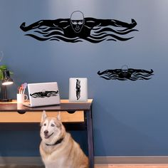 Butterfly Swimmer Removable Wall Decal | Swimming Decals | Swimming Stickers