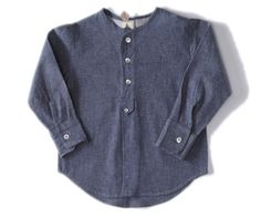 Image of sack shirt-chambray