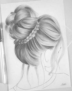 Most Beautiful Ladies Hairstyles - The Ladies Best - New Series - To Schönste Damen Frisuren – Der Damen Besten – Neue Serie – Top 30 Most Beautiful Ladies Hairstyles – The Ladies Best – New Series – Top 30 - Girl Hair Drawing, Girl Drawing Sketches, Girly Drawings, Art Drawings Sketches Simple, Pencil Art Drawings, Beautiful Drawings, Cool Drawings, Pencil Sketches Of Girls, Drawing Faces