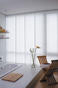 voile panel blinds