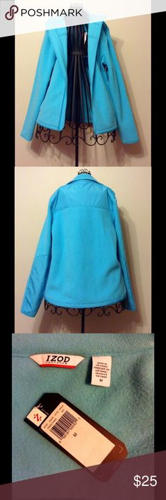 IZOD Fleece Jacket NWT- Light Blue, Women's Medium Light blue IZOD PERFORM X fleece jacket in a women's medium. NWT, never worn. Perfect condition from a smoke/pet free home. Temp FX insulating fabric will keep you warm by trapping in body heat. Izod Jackets & Coats