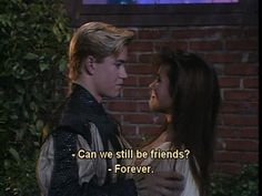 Zack and kelly are the best couple. And after Zack got over the hurt of Kelly leaving him they really did stay friends. Friends Tv Quotes, Zack Morris, Saved By The Bell, Girl Meets World, Boy Meets, Tv Couples, Tv Show Quotes, Cartoon Network Adventure Time, Full House