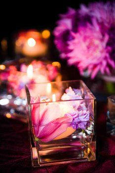 Wedding, Reception, Centerpiece, Candles, Orchid, Simply natural events, Evening