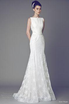 tony ward couture #bridal 2015 tulipe sleeveless #wedding dress  #weddings #weddingdress           More at www.weddinginspirasi.com/2014/03/17/naomi-neoh-2014-wedding-dresses-secret-garden-bridal-collection/