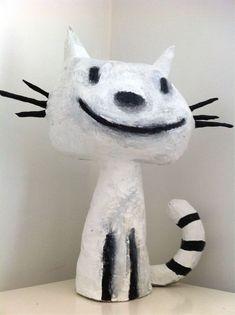 chat en papier maché suite                                                                                                                                                      Plus