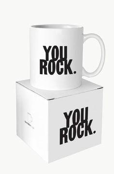 """Boxed Mug - """"You Rock"""" - at Evans & Hall"""
