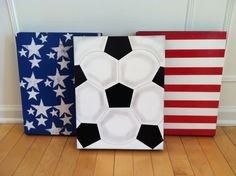 American soccer flag. Boy room ideas. Girl by ItMightJustBeAPhase