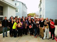 groupie with #puppies  at #apartments in #provo