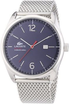 Lacoste Herren-Armbanduhr XL Analog Quarz Edelstahl 2010683