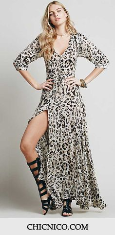 High fashion meets everyday versatility. Hot Sale at $88.99! Can Not Miss this Long Dress features Leopard! See more amazing items at Chicnico.com