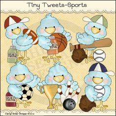 Tiny Tweets Sports 1- Whimsical Clip Art by Cheryl Seslar