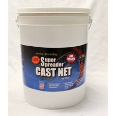 Fitec GS1500 Ultra Spreader Cast Net, 1/2 inch Mesh, Clear, Lead, 1.5 lb wt