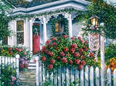 'Christmas Cottage' by Susan Rios