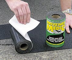 Don't call a contractor - now you can fix cracks with ease using this driveway asphalt repair kit! This foolproof DIY kit will cover cracks for years, so you can help restore your home's curbside appeal without breaking the bank. Asphalt Driveway Repair, Blacktop Driveway, Asphalt Repair, Driveway Sealing, Home Renovation, Glow Stones, Stone Driveway, Gates Driveway, Shopping