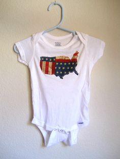 USA applique onesie  custom order onesie by JamieVanNuysDesigns, $15.00 #america #july4th