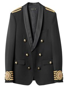Balmain x H&M: See the Full Collection With Prices - Fashionista Balmain Collection, Men's Collection, Gq, H&m Collaboration, Blazers, Balmain Men, Balmain Blazer, Vintage Mode, H&m Jackets