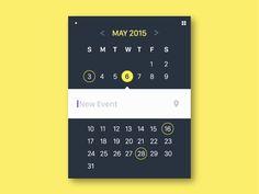 """Widget calendrier et météo avec édition rapide dans l'écran """"vue mois""""."""