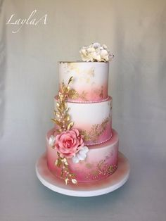 Jubilee Cake by Layla A - Cake Decorating Writing Ideen Beautiful Wedding Cakes, Gorgeous Cakes, Pretty Cakes, Cute Cakes, Debut Cake, 18th Birthday Cake, Birthday Cakes For Ladies, Quinceanera Cakes, Mom Cake