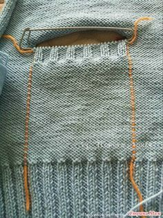 Best Way to Attach Knit Pockets to a Knit Garment – Knitting patterns, knitting designs, knitting for beginners. Knitting Designs, Knitting Stitches, Knitting Needles, Knitting Projects, Baby Knitting, Crochet Baby, Knit Crochet, Knitting Machine, Free Knitting