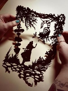 Image of Papercut DIY Design Template - 'Cheshire Cat' Wonderland Inspired