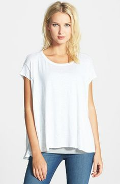 Eileen Fisher Ballet Neck Organic Linen Top available at #Nordstrom