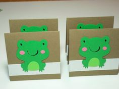 Set of 4 Mini Frog Cards by debkcreations on Etsy,