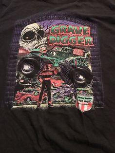 e7e757bd Details about 1991 Grave Digger Shirt LARGE HRA Vintage Monster Truck  Racing NASCAR