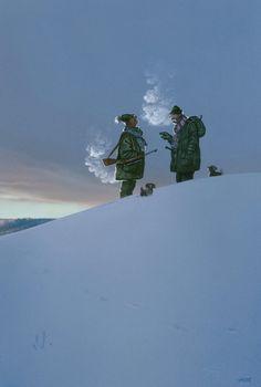 Two hunters, 2006. © Gerhard Haderer