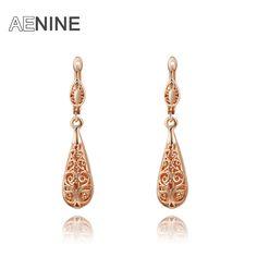 AENINE fashion new arrival genuine Austrian crystal Hollow out eardrop women trendy earrings Chrismas /Birthday gift 2020019280