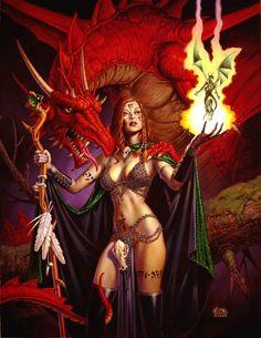 Elsbeth the Enchantress / 2002 (Clyde Caldwell)