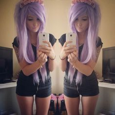 Omg if my hair looked like this <3 o.o except i'd keep my color, but like not not not the point