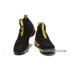 LeBron James Nike LeBron 15 Mens Basketball Shoes Black Gold NBA Finals  Game 4 Copuon a35673b9fb0