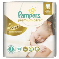 OK имаме един пакет, най-добра ценя Pampers disposable diaper  Premium Care 1 Newborn 88 pcs for 13.99 €- 0.16 per piece