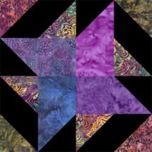 """Four Patch Quilt Block Patterns: 6"""" and 8"""" Pinwheel Quilt Blocks"""