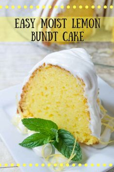 Easy Moist Lemon Bundt Cake- a nearly from scratch bundt cake that is full of lemon flavor and drizzled with lemon cream cheese frosting.