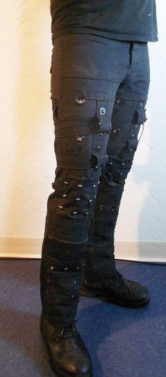 Legion Pants Trousers Apocalyptic Distressed Diesel by AtomicKiss, $100.00