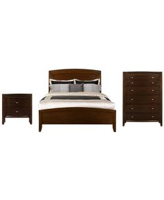 1259 Yardley Bedroom Furniture Queen 3 Piece Set Bed 6 Drawer Chest