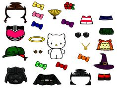 Hello kitty paperdoll!  Free templates for all different kinds of paperdolls, even people ones.