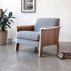 The Lodge Lounge Chair is an fresh take on the classic club chair.