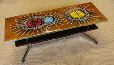 1960s graphic tile coffee table