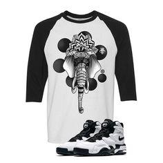 Nike Air Max 2 Uptempo 94 'White & Black' Baseball T (ELEPHANT) Nike Kyrie 3, Nike Air Max 2, Baseball T, Matching Shirts, Street Wear, Elephant, Sweatshirts, Sweaters, Marble