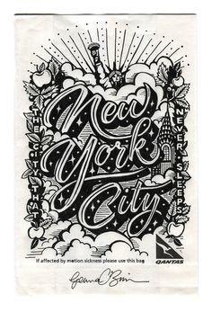 GEMMA O'BRIEN TYPOGRAPHY ___  Illustration by Gemma O'Brien #NewYorkCity #NYC…