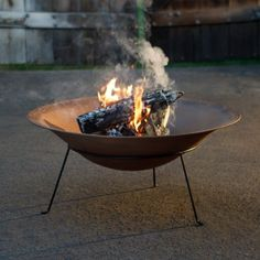 Red Ember African Round Iron Wood Burning Fire Pit Bowl with Stand - Glass Fire Pit, Fire Pit Bowl, Fire Bowls, Iron Fire Pit, Diy Fire Pit, Fire Pit Backyard, Affordable Outdoor Furniture, Fire Pit Landscaping, Wood Burning Fire Pit