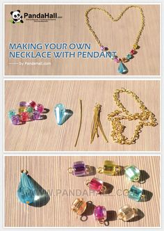 Making Your Own Necklace with Pendant from pandahall.com (Diy Necklace Braid)