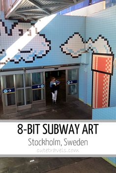 Stockholm's 8-Bit Pixelated Subway Station (Mario, Space Invaders, Pacman and more)