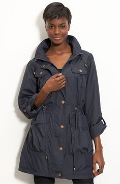 Hawke & Co. Roll Sleeve Anorak in Navy, $98