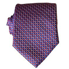 Black & Red pattern tie in jacquard silk