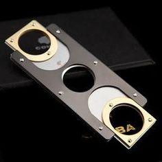 Stainless Steel Pocket Cigar Scissors Silver Finish Stainless Steel Cigar Cutter