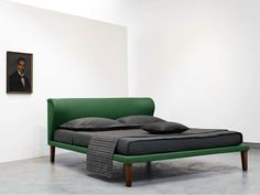 Double bed with upholstered headboard NAPOLEON by Orizzonti Italia