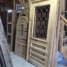 French antique iron doors